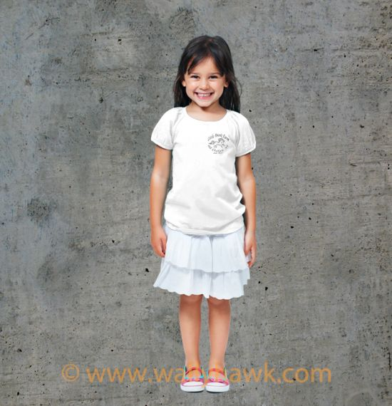 Little Brook Farm Logo Youth Shirt - Girl White