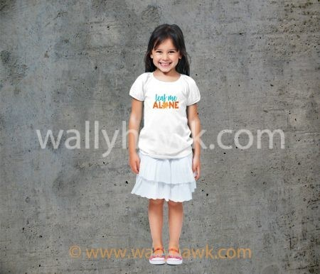 Leaf Me Alone Youth Shirt - Girl White