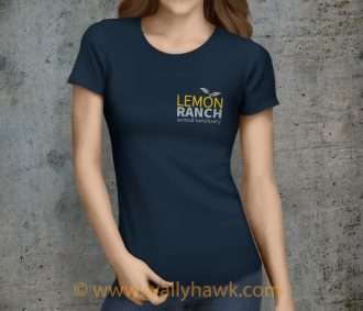 Lemon Ranch Logo Shirt - Female Navy