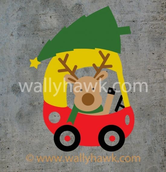 Little Reindeer Decal