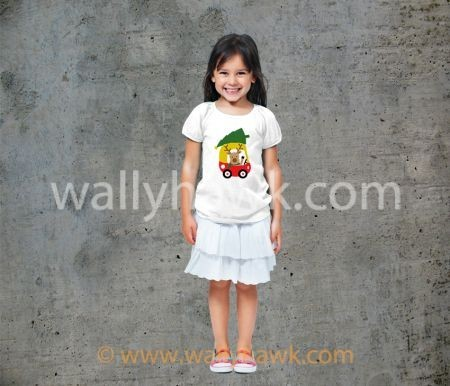 Little Reindeer Youth Shirt - Girl White