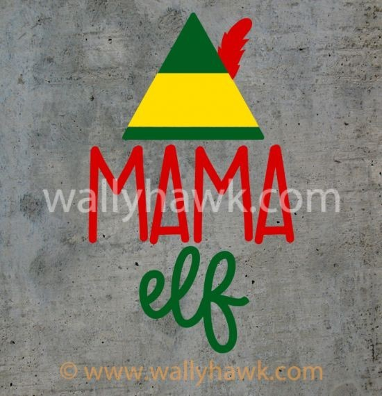 Mama Elf Decal