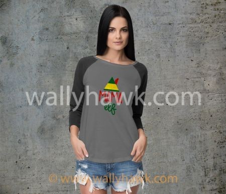 Mama Elf Shirt - Raglan Gray