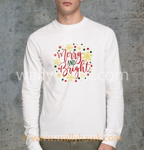Merry and Bright Shirt - Longsleeve