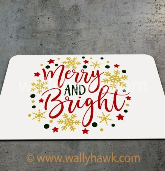 Merry and Bright Mousepad