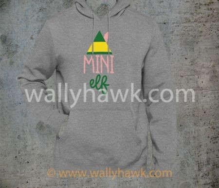 Mini Elf Hoodie - Youth Gray