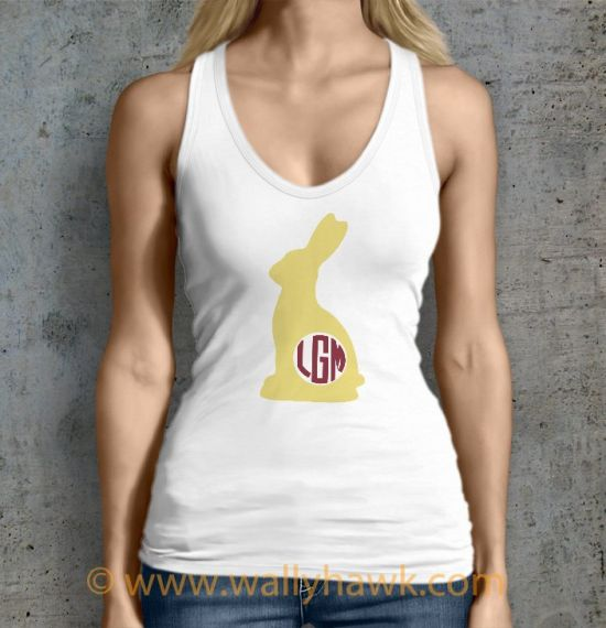 Monogram Bunny I Tank Top - Female White