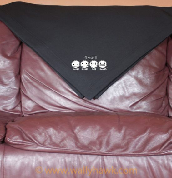 Mood Faces Blanket - Black