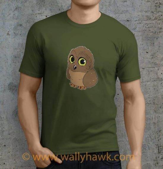 Owl Shirt - Male Mil Green