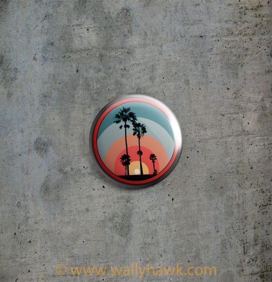 Palm Sunset Button