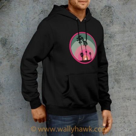 Palm Sunset Hoodie - Right