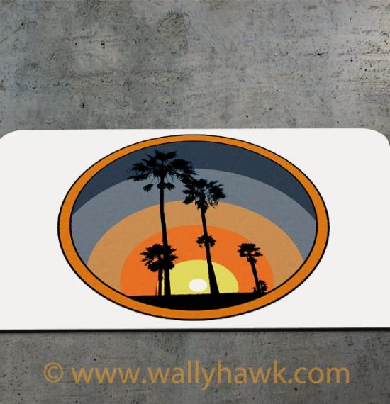 Palm Sunset Mousepad - 2