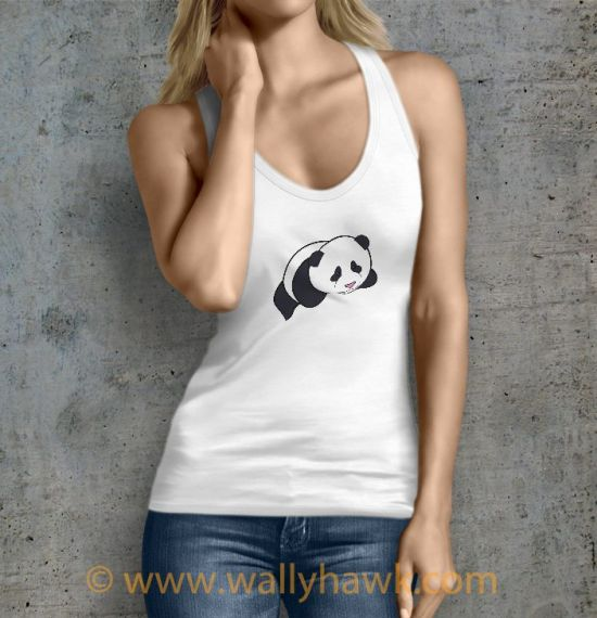 Panda Tank Top - Female White