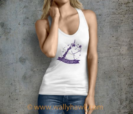 Pumpkin Tank Top - Female White