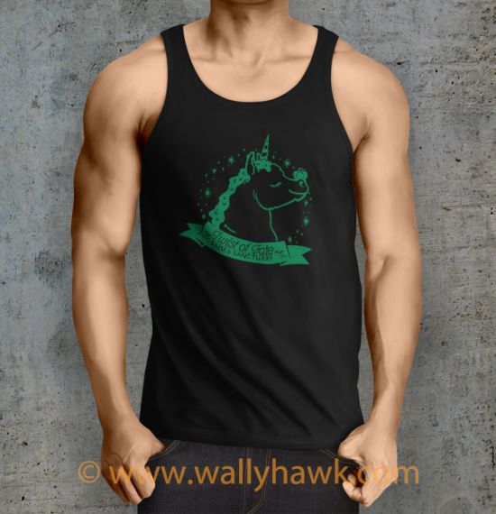 Pumpkin Tank Top - Male Black