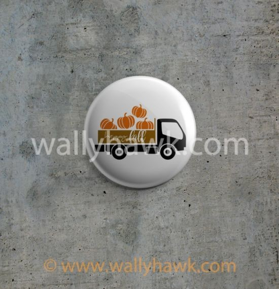Pumpkin Truck Button