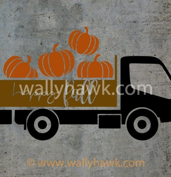Pumpkin Truck Decal