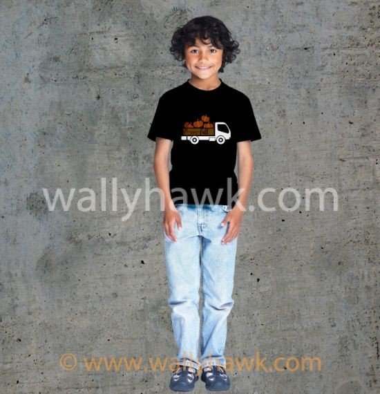 Pumpkin Truck Youth Shirt - Boy Black