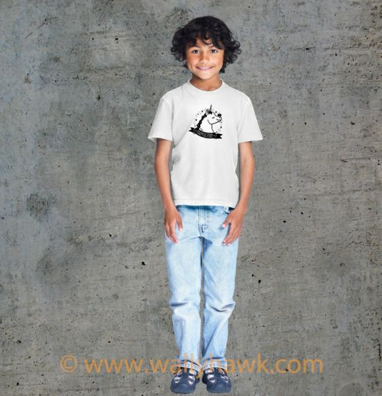 Pumpkin Youth Shirt - Boy White