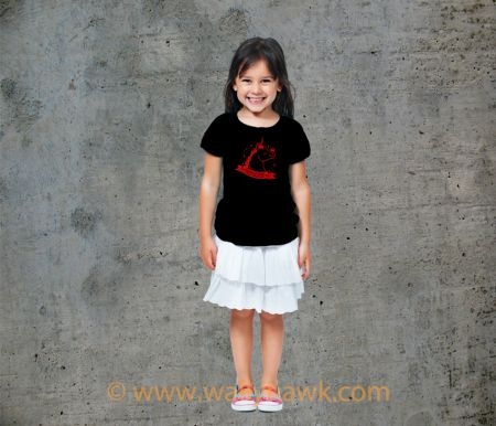 Pumpkin Youth Shirt - Girl Black