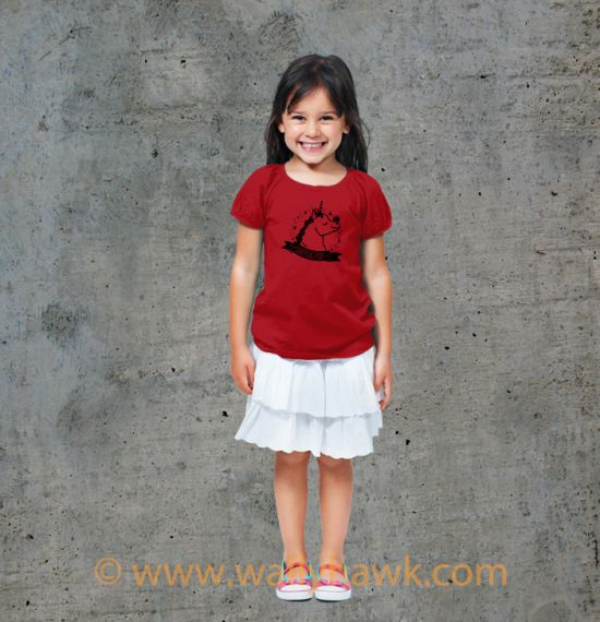 Pumpkin Youth Shirt - Girl Red