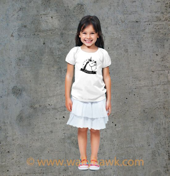 Pumpkin Youth Shirt - Girl White