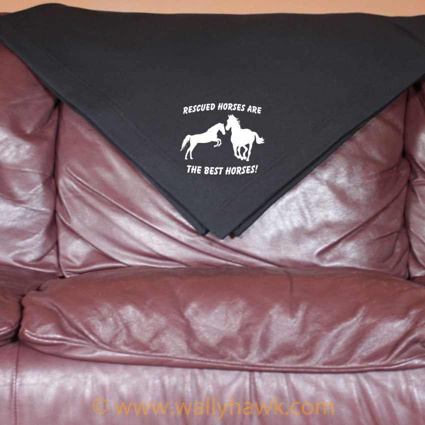 Rescued Horses Blanket - Black