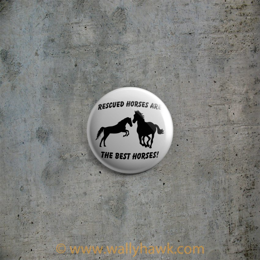 Rescued Horses Button