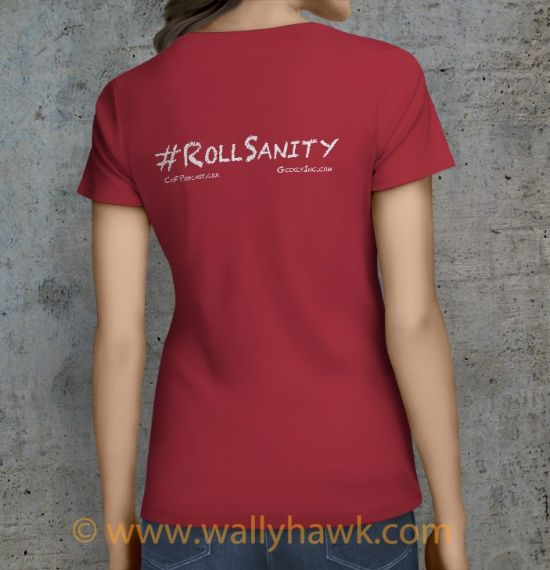 Roll Sanity Shirt - Female Crimson