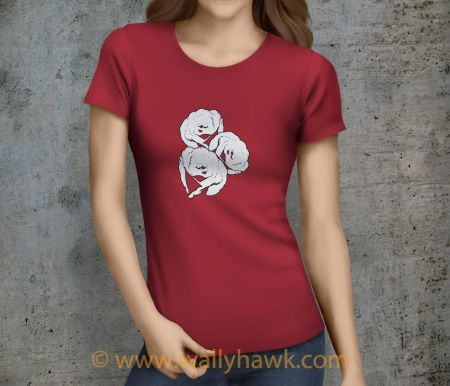 Roses Shirt - Female Crimson