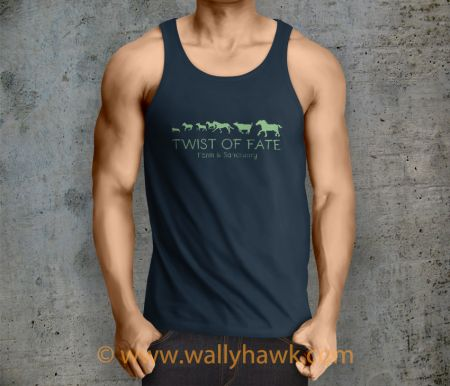 Running Tank Top - Male Navy