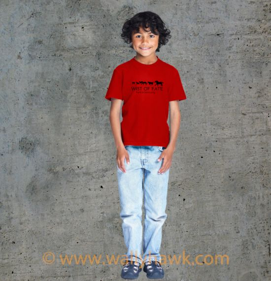 Running Youth Shirt - Boy Red