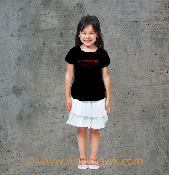 Running Youth Shirt - Girl Black