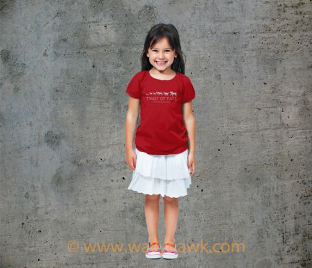 Running Youth Shirt - Girl Red
