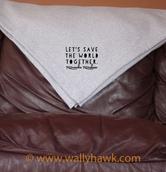 Save the World Blanket - Gray