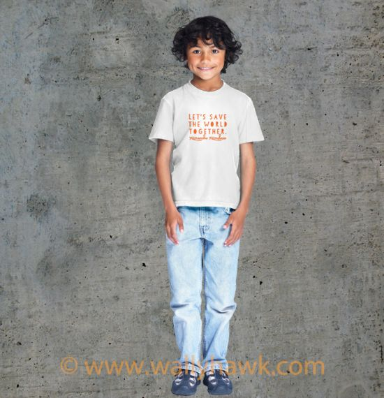 Save the World Youth Shirt - Boy White
