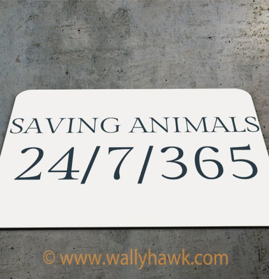 Saving Animals Mousepad - 2