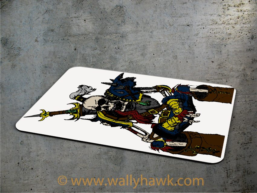 Skeletal Warrior Mousepad - 3