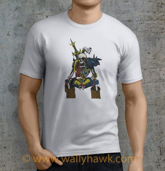Skeletal Warrior Shirt - Male White