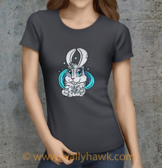 Snow Bunny Shirt - Female Charcoal