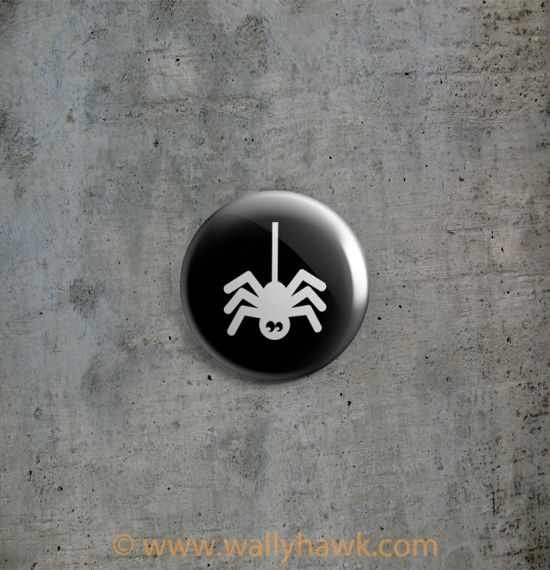 Halloween Silhouette Buttons - Spider
