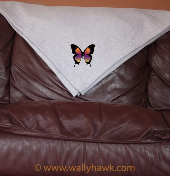 Swallowtails Blanket - Gray