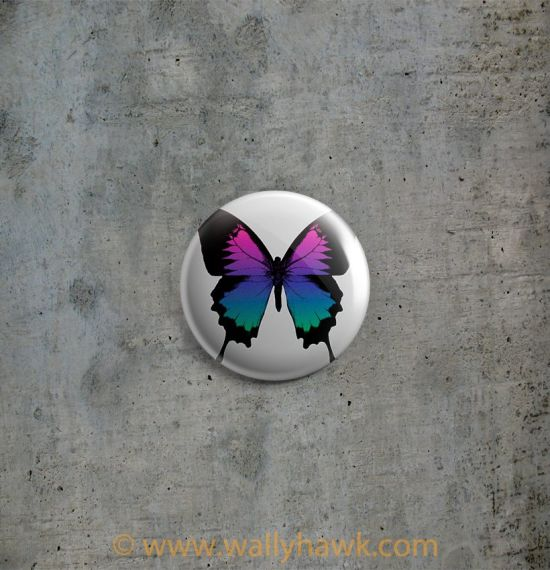 Swallowtails Button