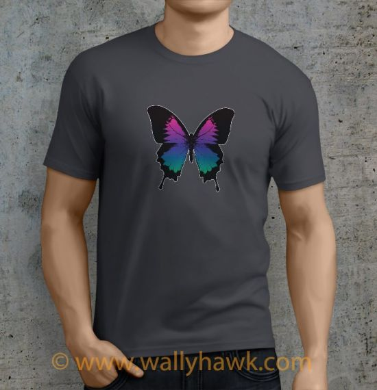 Swallowtails Shirt - Male Charcoal