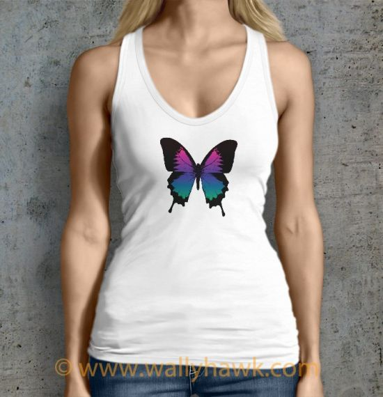 Swallowtails Tank Top - Female White