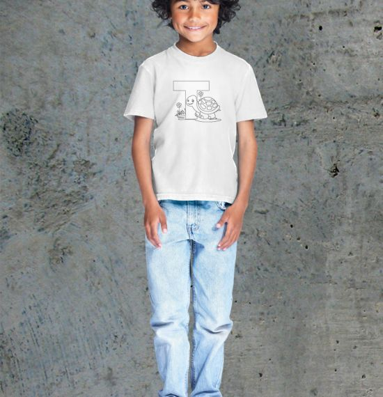 T - Alphabet - Coloring Book Shirts - Boy