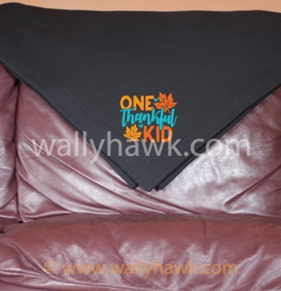 One Thankful Kid Blanket - Black