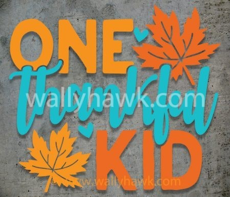 One Thankful Kid Decal
