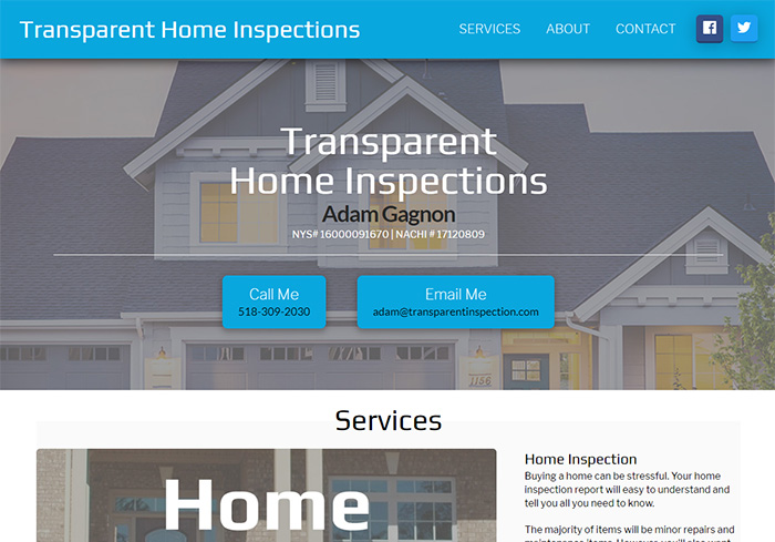 Transparent Home Inspection Screen Shot