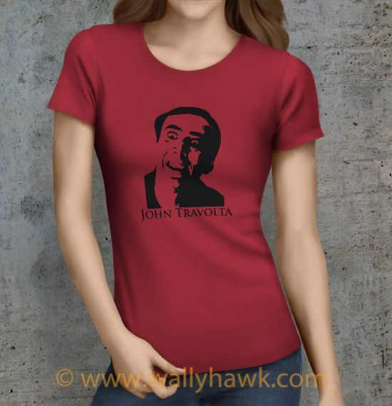 John Travolta Shirt - Female Crimson
